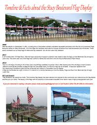 American Flag Backdrop Great Poster With Timeline And Facts About The Stacy Boulevard