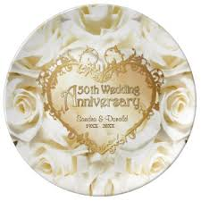 50th wedding anniversary plate custom wedding anniversary porcelain plates