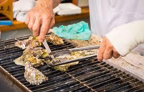 cuisiner japonais cuisiner japonais grillé huîtres photographie junce11 121425768