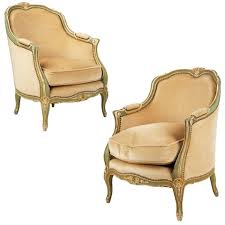 French Louis Bedroom Furniture by Pair Of French Louis Xv Style Painted Bergere Arm Chairs 20th