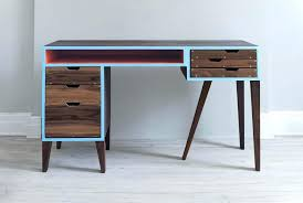 Modern Desks With Drawers Mid Century Modern Desk Floating Desk With Bookshelf 2 Mid