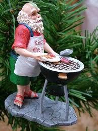 new santa claus barbecue weber style bbq grill ornament ebay