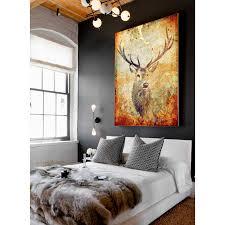 deer home decor home decor bautiful canvas art plus deer hunter art by palm