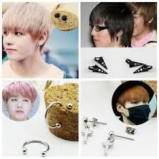 bts earrings kpop bts suga v stud earrings f t i honggi lee fashion jewelry