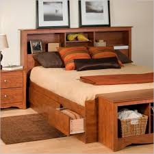 Headboards For Queen Size Bed by New Full Size Bed Frame With Bookcase Headboard 42 For Queen Size