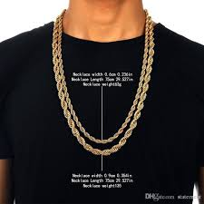 chain necklace size images 2018 hip hop men rapper 39 s 30 inch 6mm 9mm various size twisted jpg