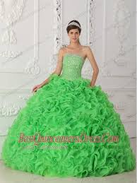 green quinceanera dresses gown strapless floor length organza beading quinceanera dress