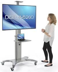 Monitor Pedestal Stand Tv Stand W Shelf Fits Monitors 45