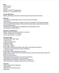 Sample Resume For Mba Finance Freshers by 40 Fresher Resume Examples