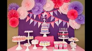 2nd birthday decorations at home cool girls birthday party decorations ideas youtube