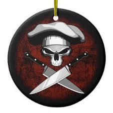 skull chef and knives ornaments keepsake ornaments zazzle