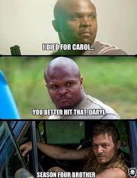 Carol Walking Dead Meme - norman reedus tweets meme of daryl carol relationship in season 4
