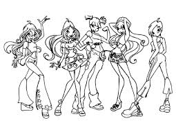 winx club coloring pages games winx club girls coloring pages