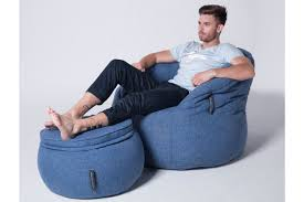 bean bag chair with ottoman blue memory foam ottoman wing ottoman bean bag singapore