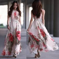 summer dresses summer dresses women bohemia print chiffon dress daily zone