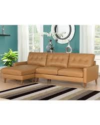 Abbyson Sectional Sofa Sweet Deal On Abbyson Wright Mid Century Top Grain Leather