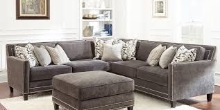 charcoal sectional sofa grey sofa with nailheads buy steve silver torrey sectional in