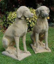 pair pointer garden statues 343 plus shipping from uk