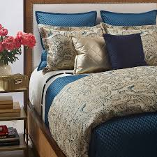 Eastern Accents Coverlets The Art Of Home Arabesque Teal Duvet Set Is Layered With The