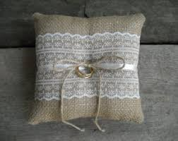 wedding pillow rings ring bearer pillows etsy