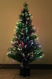pre lit fibre optic colour tip tree ho ho ho trees