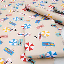 wrapping paper sheets sunbathers wrapping paper 5 sheets dotcomgiftshop