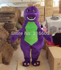2017 high quality purple barney dinosaur cartoon mascot costumes
