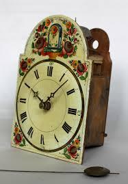 German Clocks An Early German Black Forest Polychrome Cuckoo Wall Clock Circa