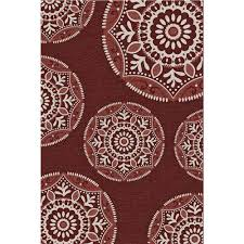 Outdoor Carpet Runners Home Depot Hampton Bay Coastal Medallion Blue 5 Ft 3 In X 7 Ft 5 In