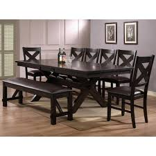 8 piece dining room set cool 8 piece dining table chair bench set havana by crown mark on