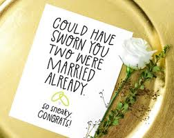 Funny Wedding Wishes Cards Bridal Shower Cards Etsy