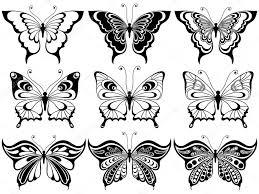 set of nine ornamental butterflies stock vector natreal 72081439