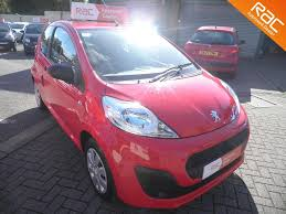 peugeot small car used peugeot 107 red for sale motors co uk