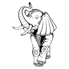 simple elephant tattoo design