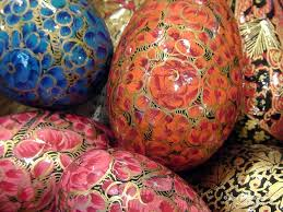 decorative eggs for sale papier mache handpainted eggs display where s my backpack