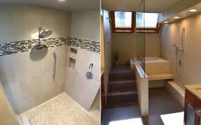 Open Shower Bathroom Doorless Showers Bathroom Remodel Portland Seattle Bath