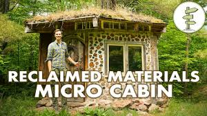 budget micro cabin built with recycled materials u0026 green roof