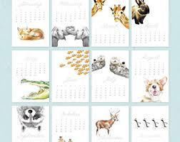 desk calendar etsy