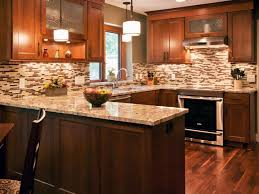 kitchen backsplash ideas with oak cabinets yellow valance wooden