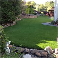backyards bright artificial grass used for a custom bocce ball