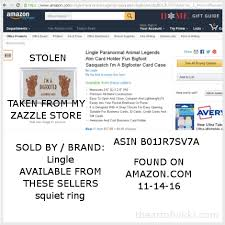 Business Card Measures Catalog Of Counterfiet Goods Sold On Amazon And Stolen From The