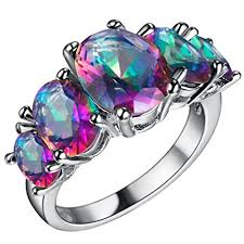 day rings ring styles fendina womens silver plated gorgeous five