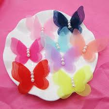 butterfly for hair new fashion chiffon pearl butterfly for hair headbands hair