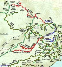 Rubicon Trail Map Coxey Truck Trail 3n14