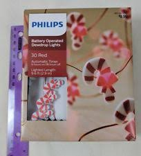 battery operated candy cane lights candy cane red white battery operated 10 lights led philips
