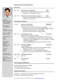 resume format for word awful resume format sles cv word exles for freshers sle