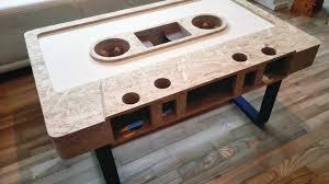 Wohnzimmertisch Diy Couchtische Mc Kassetten Design Wohnzimmertisch Couchtisch