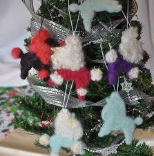 poodle ornaments santa poodle nebula poodle felted wool