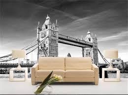 Wallpaper Livingroom by Custom 3d Photo Wallpaper Livingroom Mural Tower Bridge London