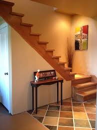 Tile On Concrete Basement Floor by Hand Painted Faux Slate Tile Floor On Concrete Basement Floor